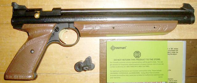 Un pistolet Crosman 1377C à pompe « tuné » à fond   Jidenet
