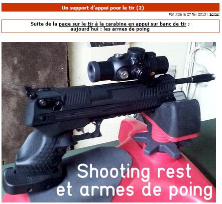 support de tir pour armes de poing Cap067