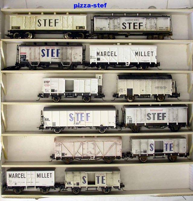 (HO) wagons frigorifiques Stef